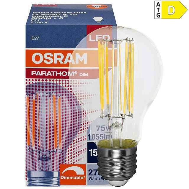 LED Retrofit Lampe E27, 6W, warmweiss klar (60)