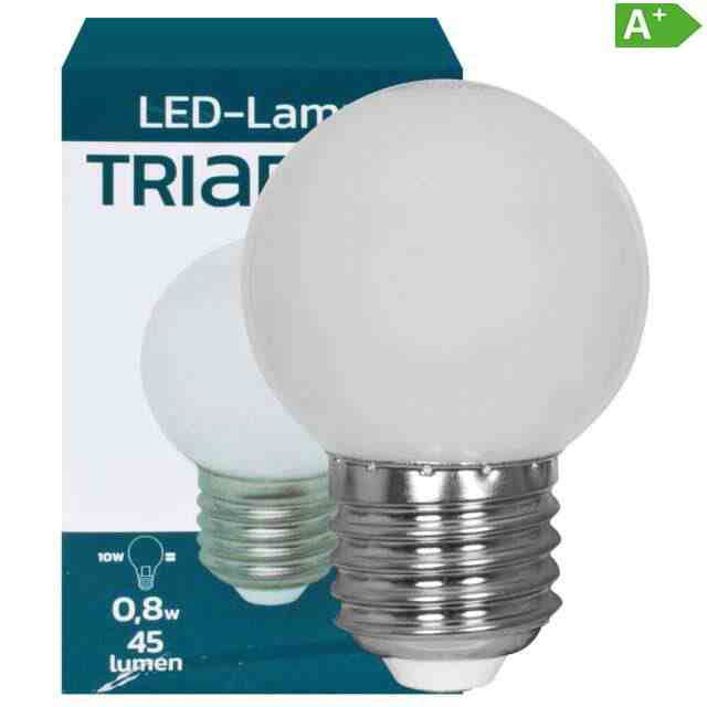 LED-Tropfenlampe E27 IP54 3000K 0,8W