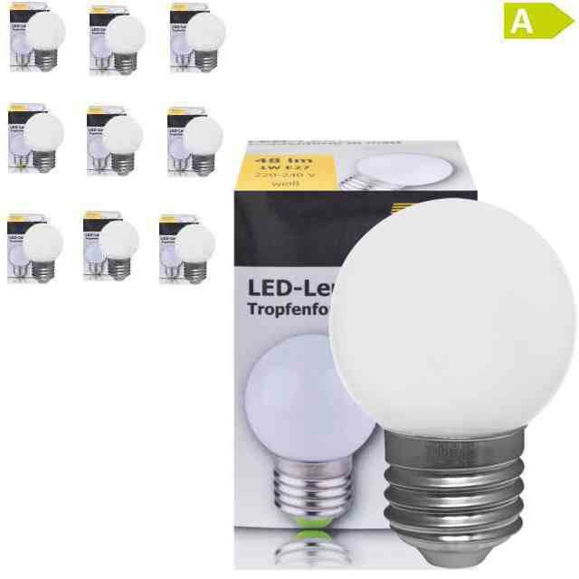 LED-Tropfenlampe warmweiss E27 230V 1W
