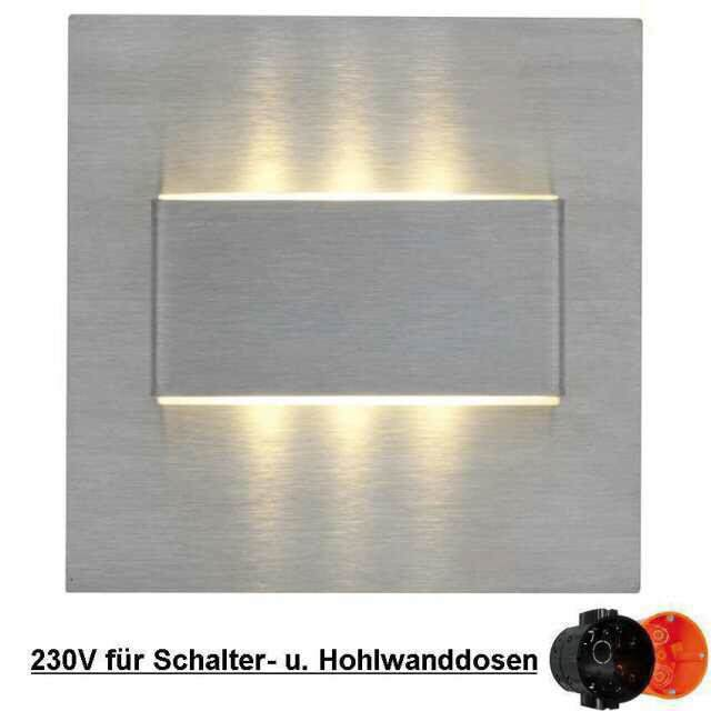 LED-Wandeinbauleuchten MINI-6, 12V 0,3W, warmweiss