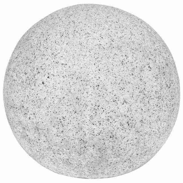 garten kugelleuchte polyresin in granit optik 400mm 230v. Black Bedroom Furniture Sets. Home Design Ideas