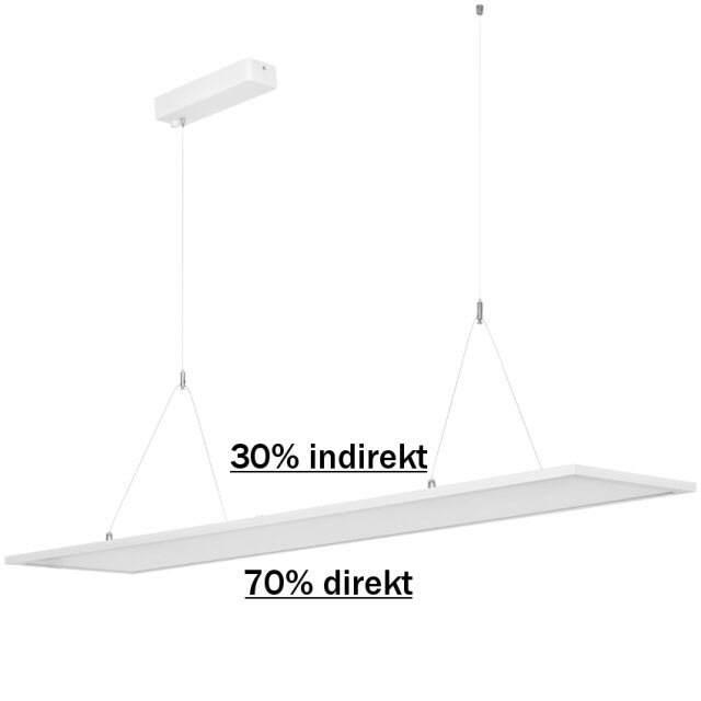 led pendelleuchte panel direkt indirekt 4000k 40w. Black Bedroom Furniture Sets. Home Design Ideas