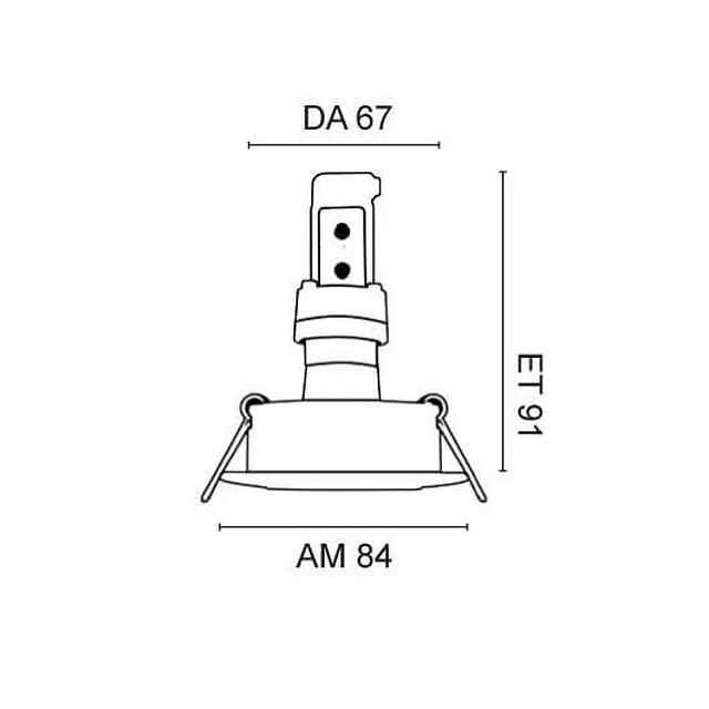 einbauleuchte led 4 5w chrom mit austauschbarem led leuchtmittel gu10 230v. Black Bedroom Furniture Sets. Home Design Ideas