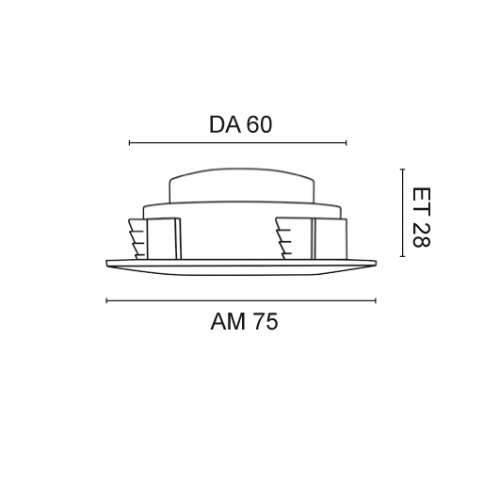 einbauleuchte led 5w 230v nickel ip44. Black Bedroom Furniture Sets. Home Design Ideas