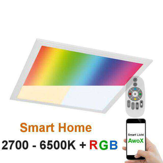 rgb w led panel 62x62 smart home awox app. Black Bedroom Furniture Sets. Home Design Ideas
