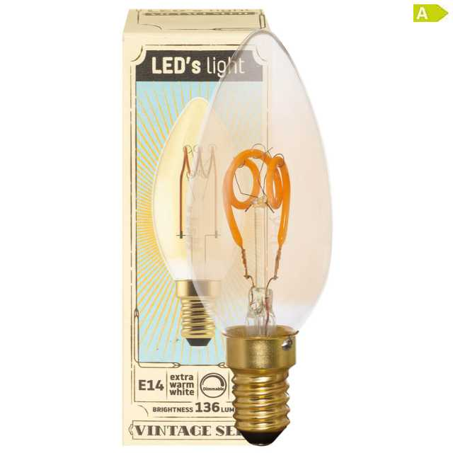 Spiral LED Lampe dimmbar E14 3W 2200K warmweiss