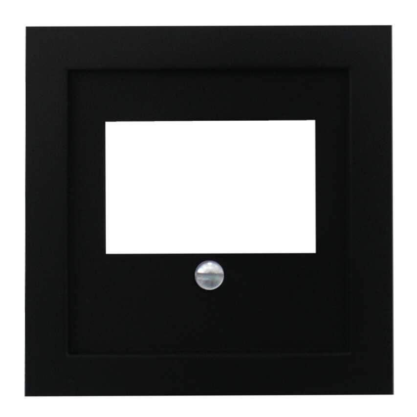 steckdose unterputz tae abdeckung schwarz matt. Black Bedroom Furniture Sets. Home Design Ideas