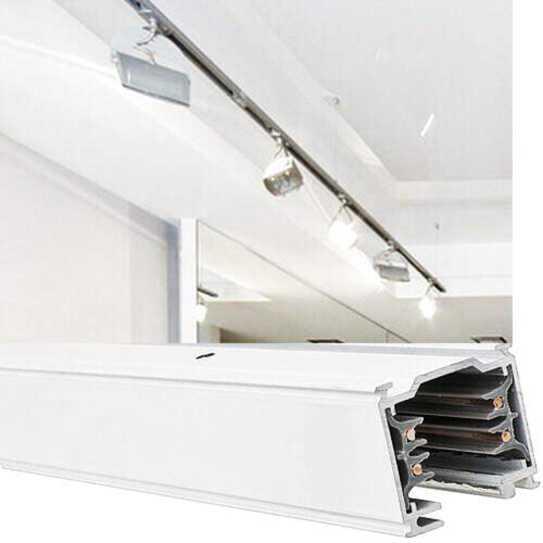 3 phasen stromschienen wei 1m strahler led schienensysteme. Black Bedroom Furniture Sets. Home Design Ideas