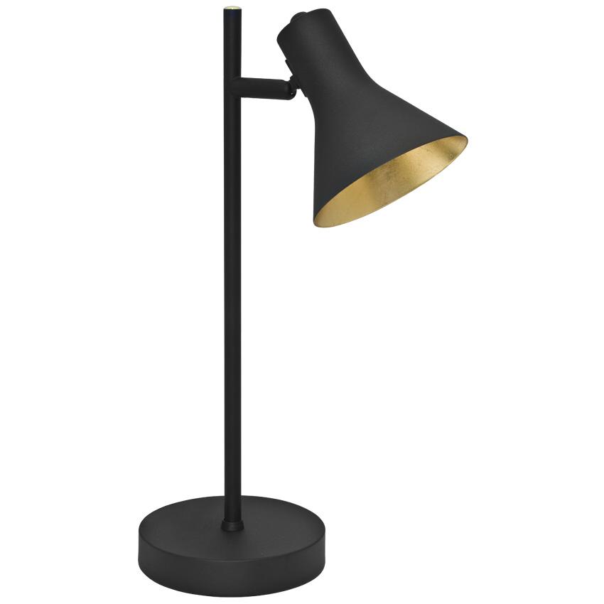 tischleuchte schwarz innen gold 1xe14. Black Bedroom Furniture Sets. Home Design Ideas